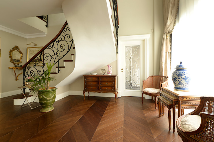 Dark Amber Lantana Parke Klasik Oturma Odası Ahşap Ahşap rengi