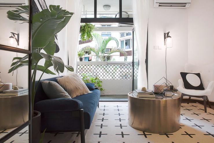 Hee wong S.Lo Studio Modern living room Multicolored