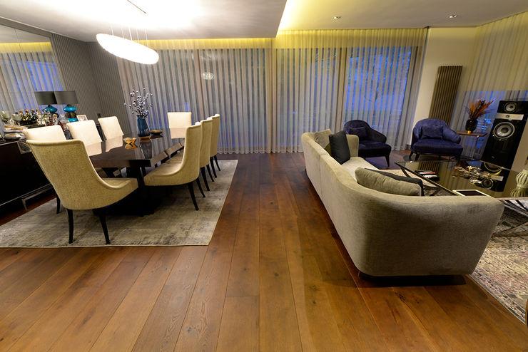 Oak Smoked Color Lantana Parke Rustik Oturma Odası Ahşap Ahşap rengi