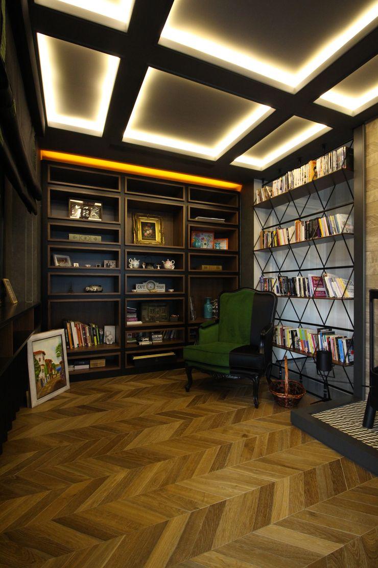 OAK SMOKED Lantana Parke Modern Çalışma Odası Ahşap Ahşap rengi