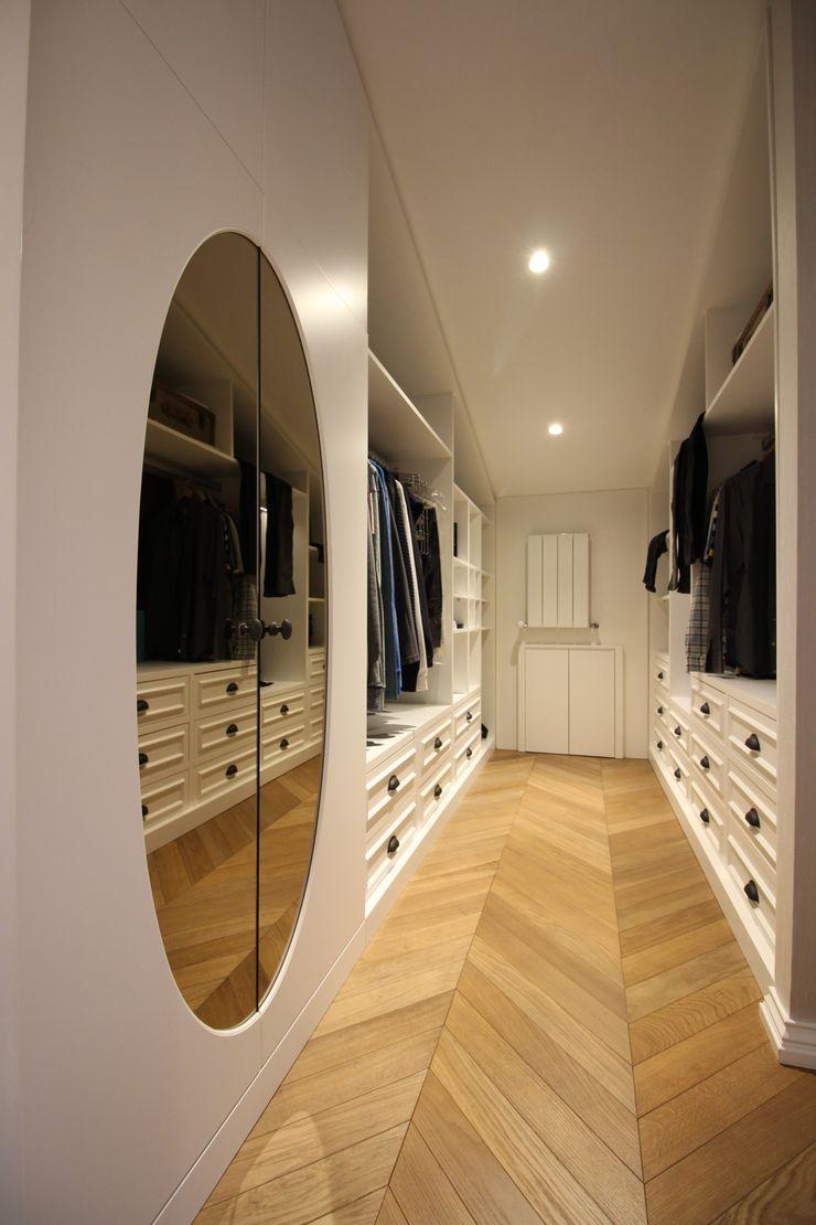 OAK SMOKED Lantana Parke Modern Giyinme Odası Ahşap Ahşap rengi