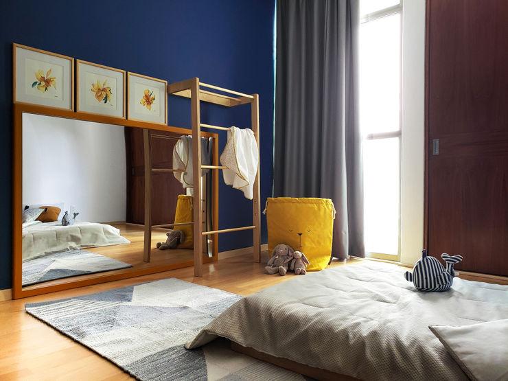 Cuarto Montessori Sentido Arquitectura Recámaras para bebés Madera Azul