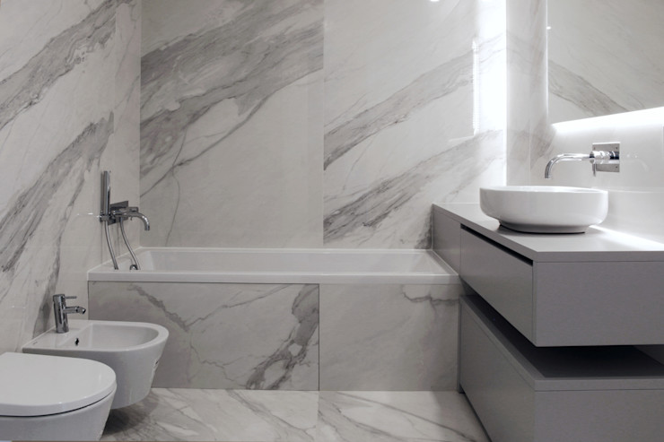 Sónia Cruz - Arquitectura Minimalist bathroom Ceramic