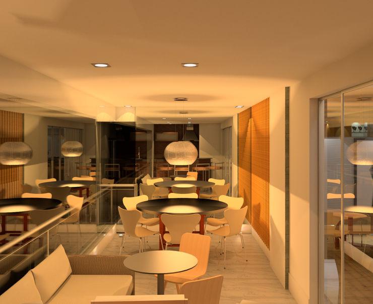 Gourmet Terrasse Elaine Hormann Architecture 陽台、門廊與露臺 家具 陶器 Beige