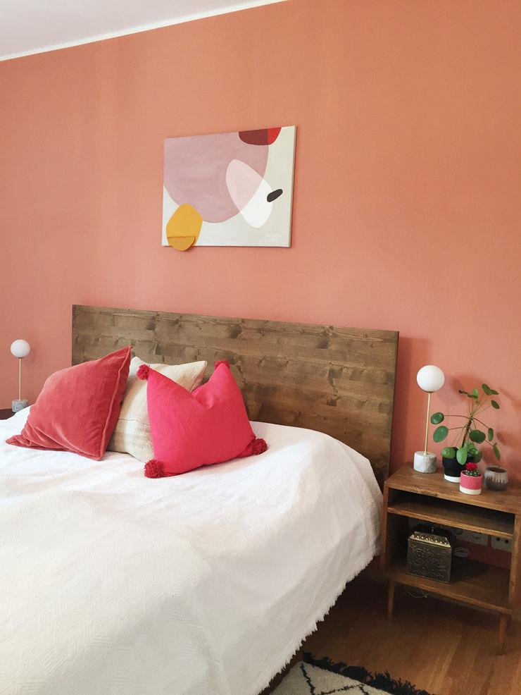 KANOS Design Phòng ngủ phong cách chiết trung Gỗ Orange