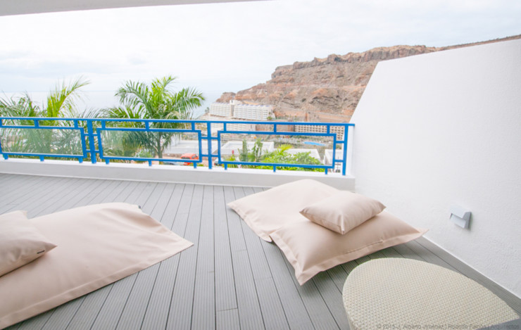 REFORMA INTEGRAL APARTAMENTO EN TAURITO GRAN CANARIA RÖ   ARQUITECTOS Balcones y terrazas de estilo escandinavo