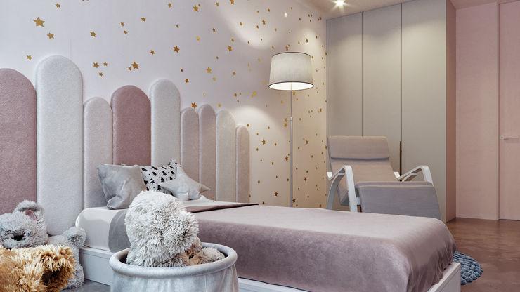детская спальня дизайн студия А Гординского Small bedroom Wood-Plastic Composite Multicolored