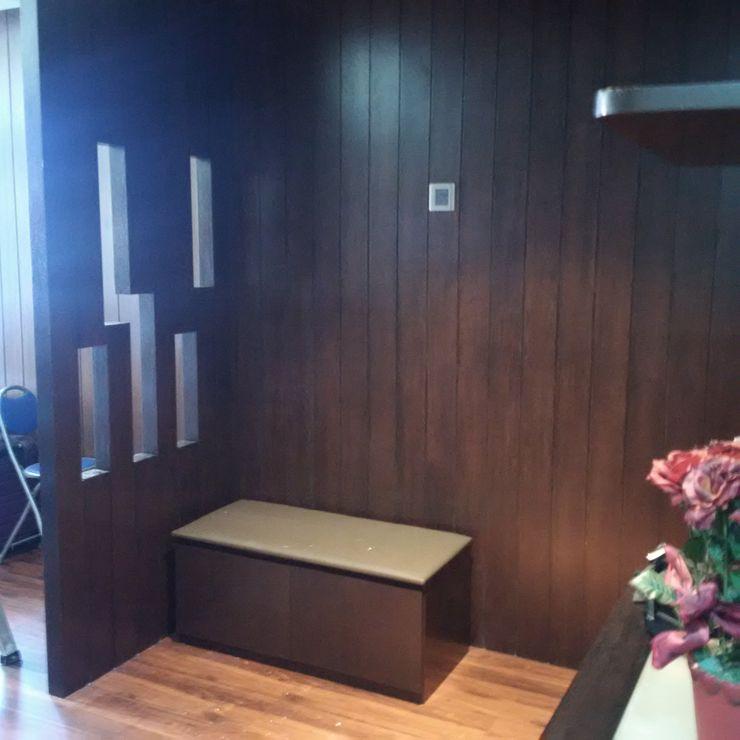 INTERIOR REFURBISHMENT FOR APARTMENT AT TAMAN KUCHAI LAMA, KUALA LUMPUR eL precio Tropical style living room