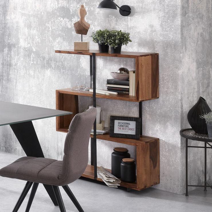Libreria Esse Cogal Home Soggiorno in stile industriale Legno Marrone