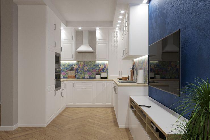 Евгения Ковалева Built-in kitchens White