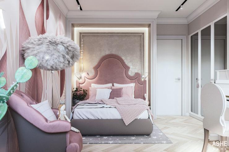 Квартира в ЖК Дом у озера Студия авторского дизайна ASHE Home Спальня в эклектичном стиле
