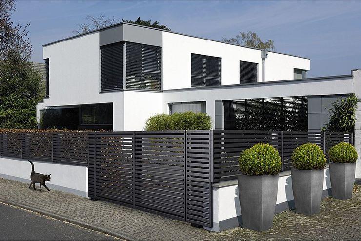 Modell MAGNUS Super-Zaun Vorgarten Aluminium/Zink