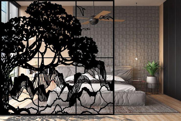 Divisorio 3D paesaggio asiatico 3D Art studio Roma Paesaggio d'interni Sintetico
