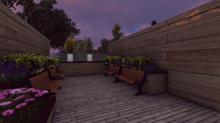 Decking Area Abodde Luxury Homes Front garden
