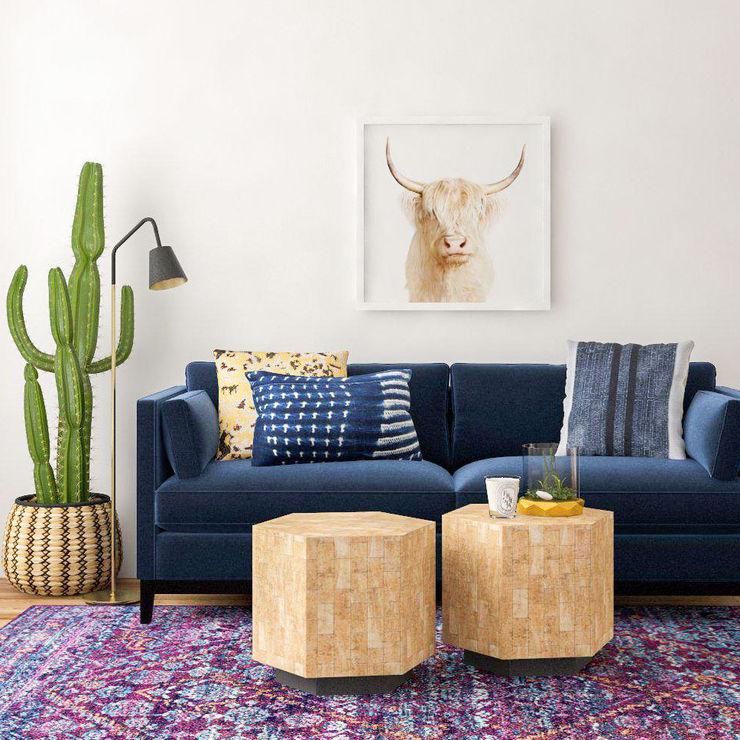 Color y naturaleza Tullpu Diseño & Arquitectura Salas modernas