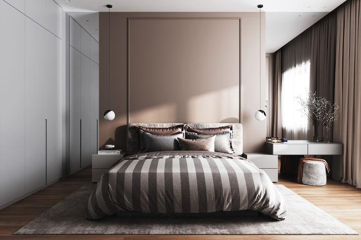 Бюро интерьеров ICON INTERIORS Minimalist bedroom