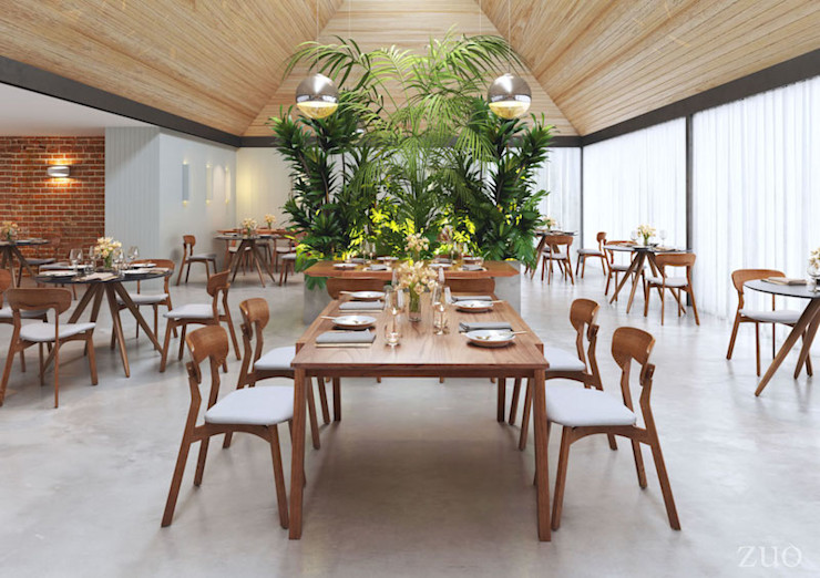 Restaurant project Vivible Dining roomChairs & benches Wood Brown