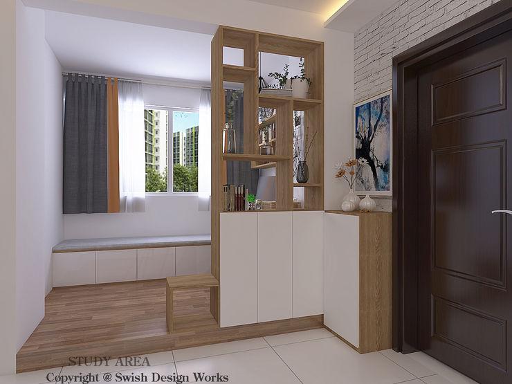 Entrance Swish Design Works Scandinavian style corridor, hallway& stairs Plywood Wood effect