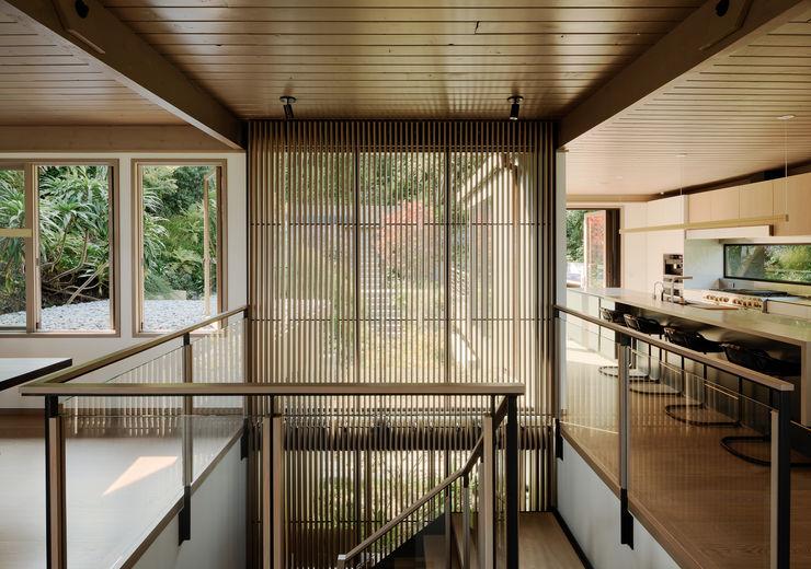 Feldman Architecture Modern corridor, hallway & stairs