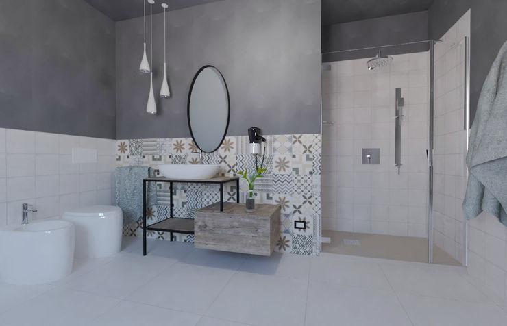 Ceramiche B.M Rustic style bathroom