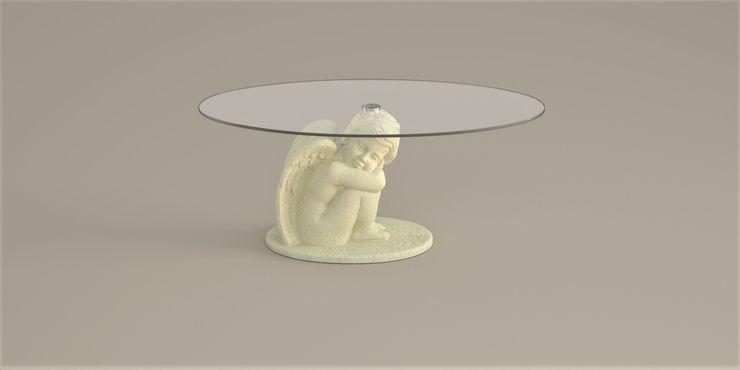 Tavolino da salotto Cupido DABLEC di Tiziano Moletta SoggiornoTavolini Sintetico Beige
