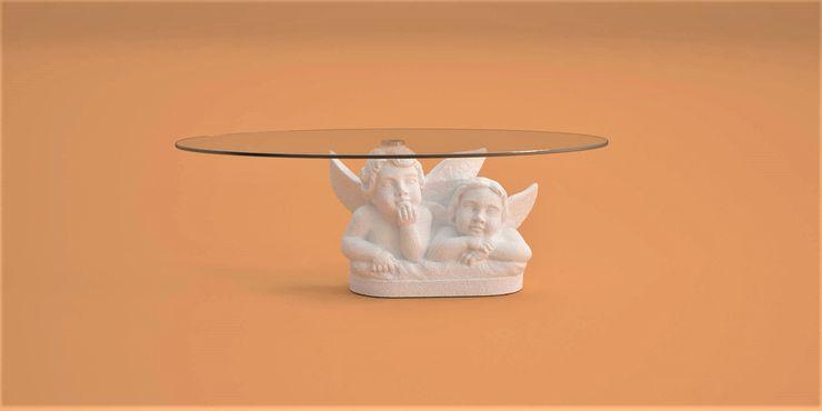 Tavolino da salotto Angeli DABLEC di Tiziano Moletta SoggiornoTavolini Sintetico Bianco