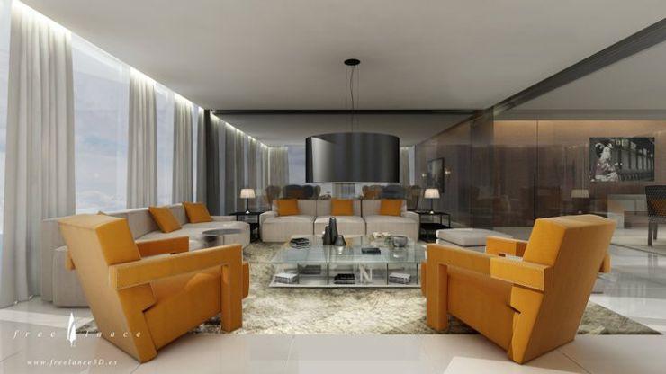 Salón Freelance3d Salones de estilo moderno