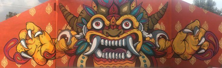 Mural de Barong BARRAGAN ARQUITECTOS Exhibition centres