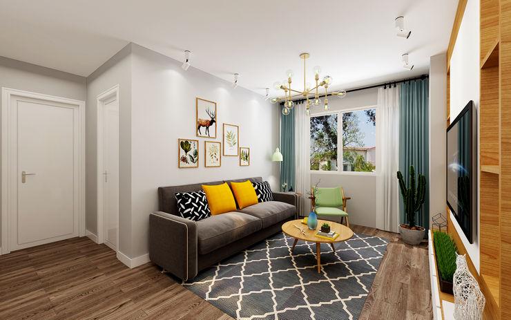 Living Area Swish Design Works Scandinavian style living room