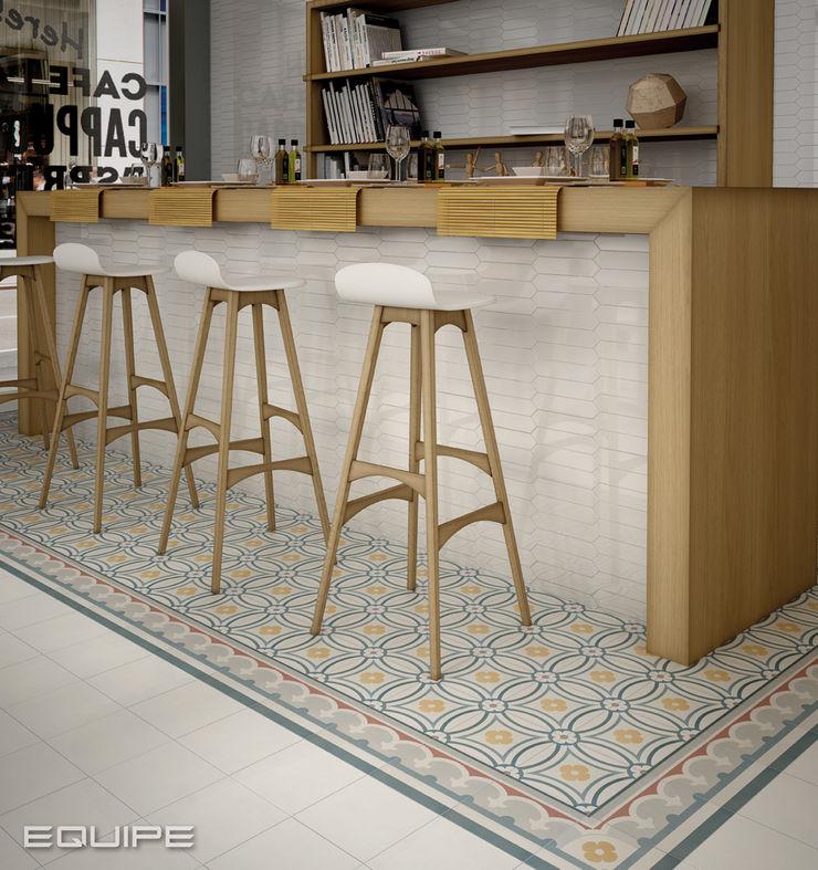 Caprice Equipe Ceramicas Cocinas de estilo ecléctico Azulejos