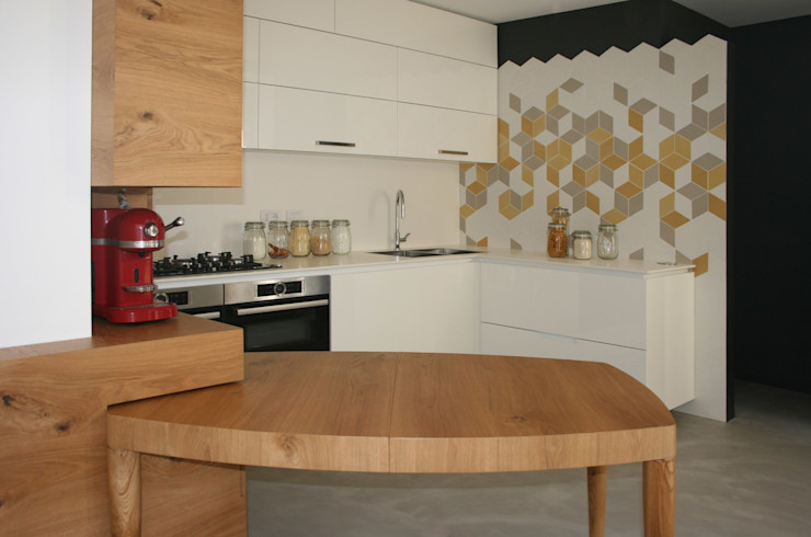 CUCINA MOLTENI / BARON ASSOCIATI Cucina attrezzata Legno Bianco