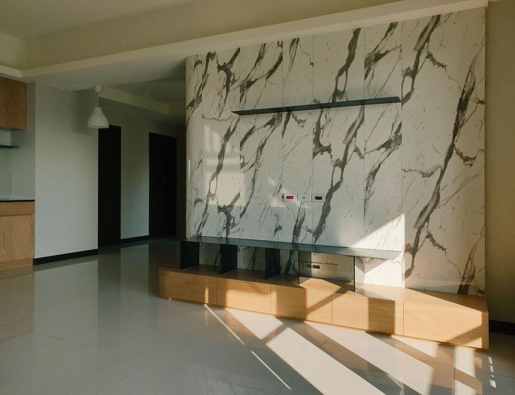 木皆空間設計 ミニマルデザインの リビング