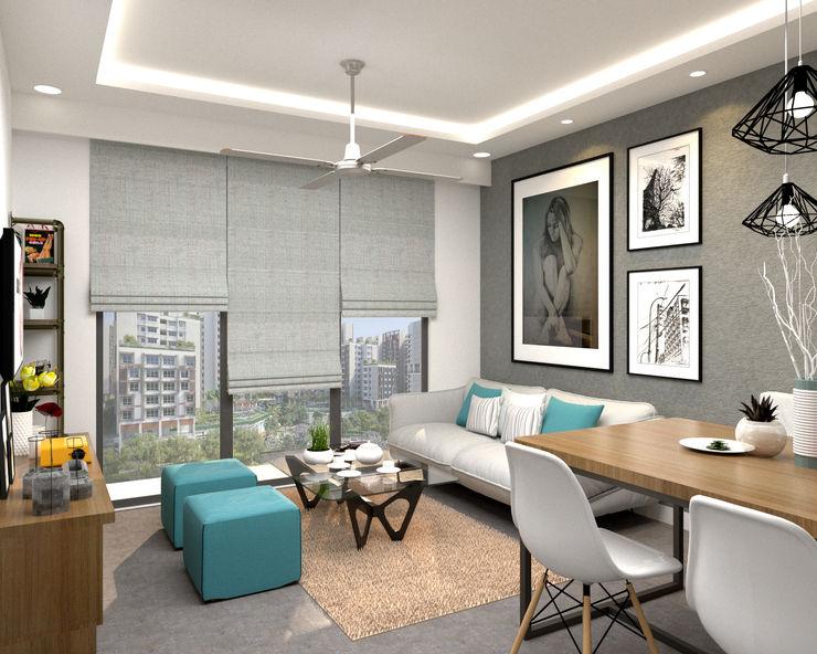 Living Area Swish Design Works Living room Grey