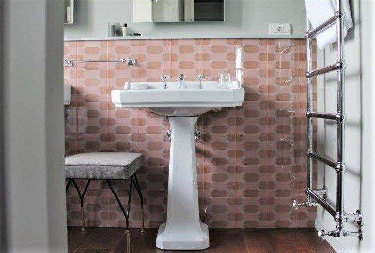 ATTICA sas Baños de estilo minimalista Cerámico Rosa