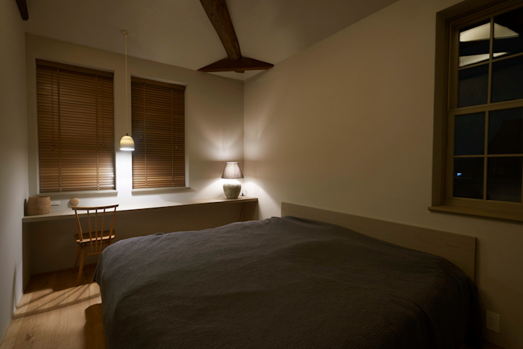 House in Minamitawara Mimasis Design/ミメイシス デザイン ラスティックスタイルの 寝室