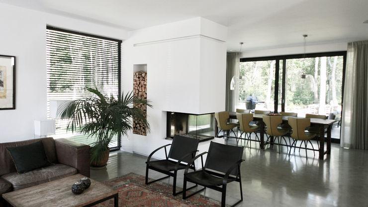 ddp-architectuur Modern living room Concrete