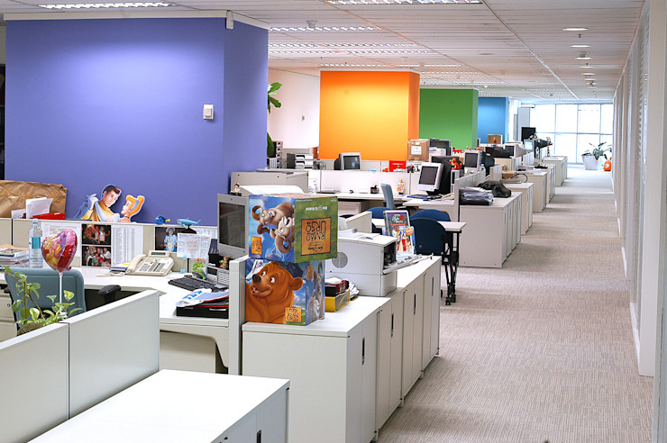 Projeto Ofice Plaza Iguatemi SP RUTE STEDILE INTERIORES Modern office buildings
