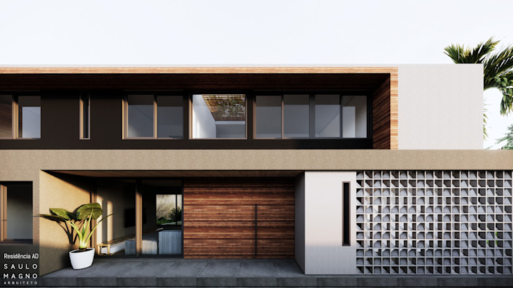 Saulo Magno Arquiteto 獨棟房 木頭 Grey