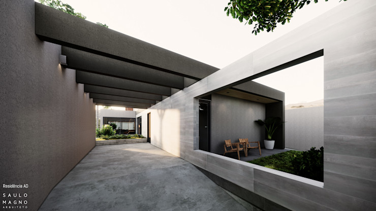 Saulo Magno Arquiteto 獨棟房 陶器 Grey