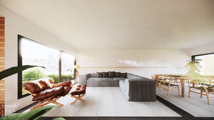 Saulo Magno Arquiteto 现代客厅設計點子、靈感 & 圖片 White