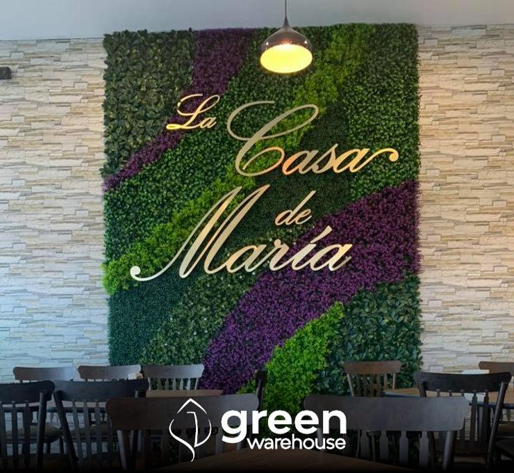 Green Warehouse Interior landscaping