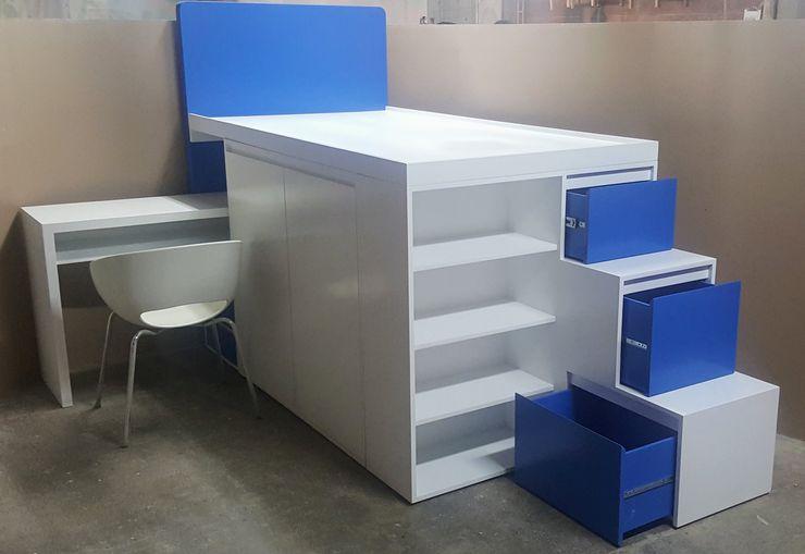 Litera con diseño a la medida. Argento muebles Dormitorios infantiles modernos Blanco