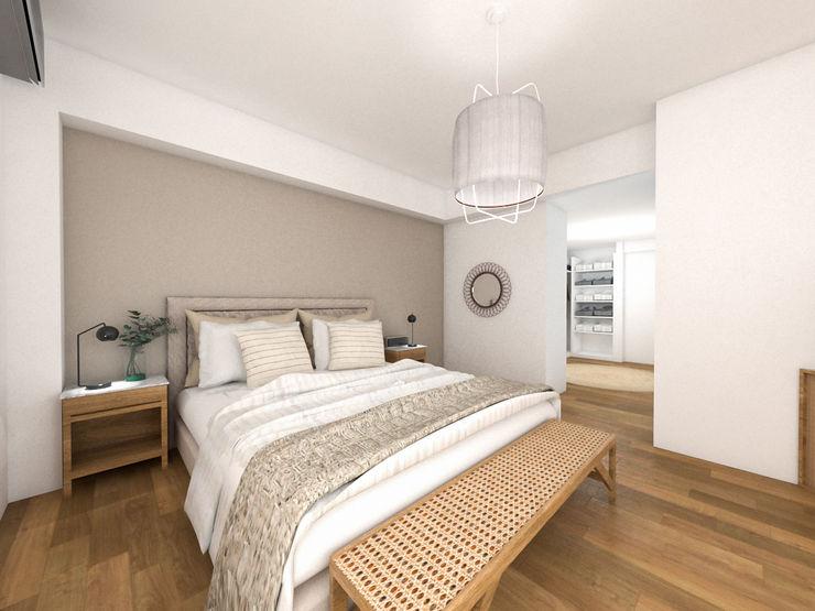 Bhavana Rustic style bedroom Beige