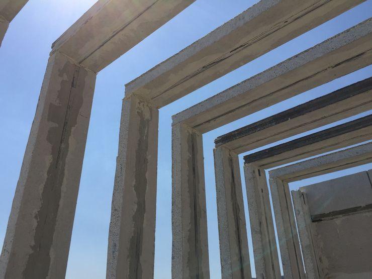 PERGOLAS Arqcubo Arquitectos Balcones y terrazas modernos Concreto Blanco
