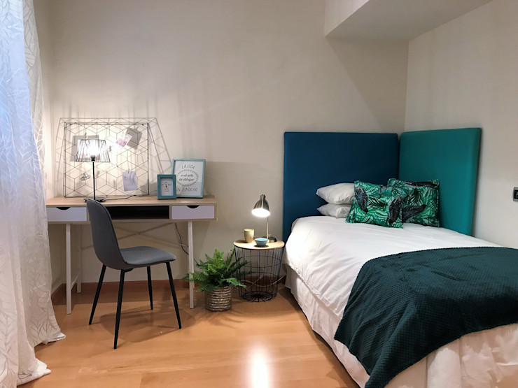 A interiorismo by Maria Andes СпальняЛіжка та спинки Зелений