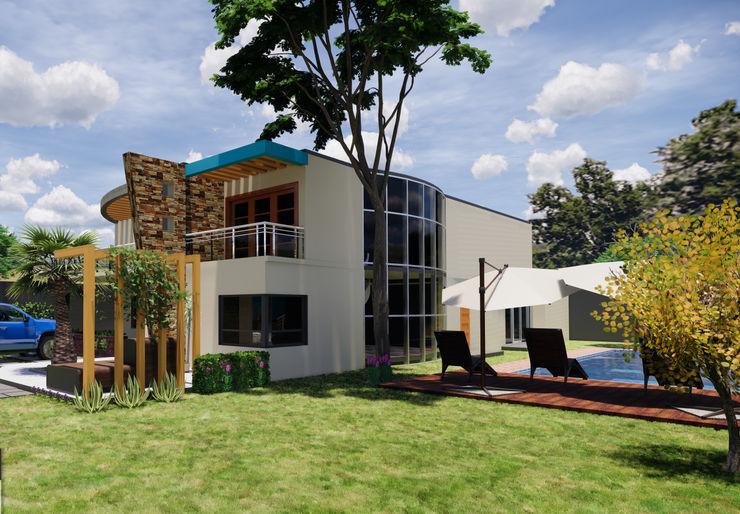 Fachada juanbarahona_19 Casas coloniales Ladrillos Beige