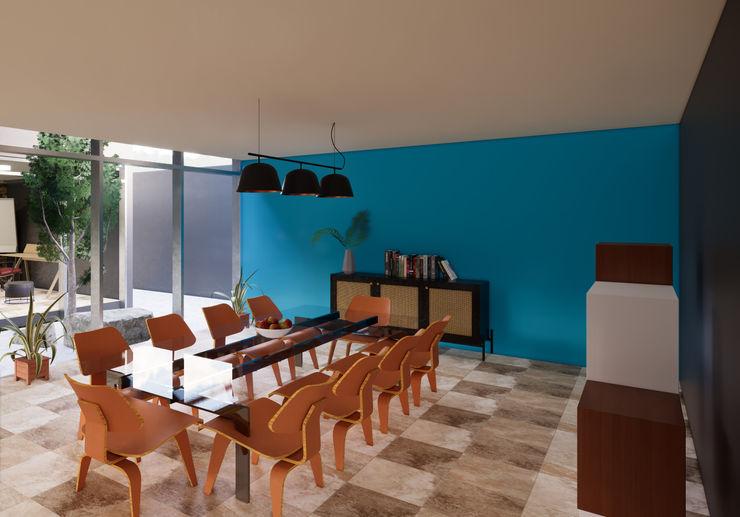 Comedor juanbarahona_19 Comedores coloniales Concreto Azul