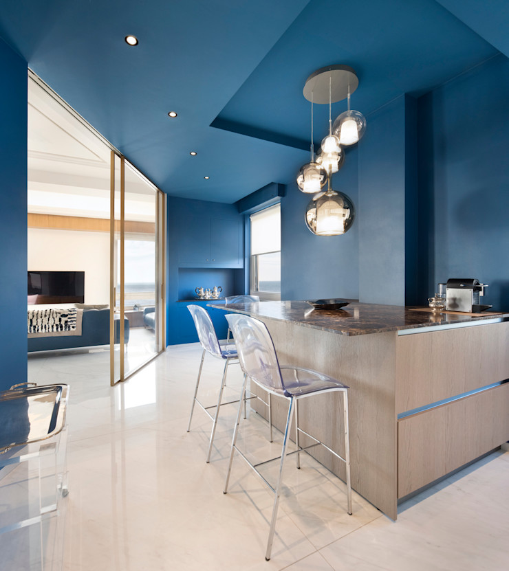 CASA C&C Andrea Orioli Cucina moderna Legno Blu