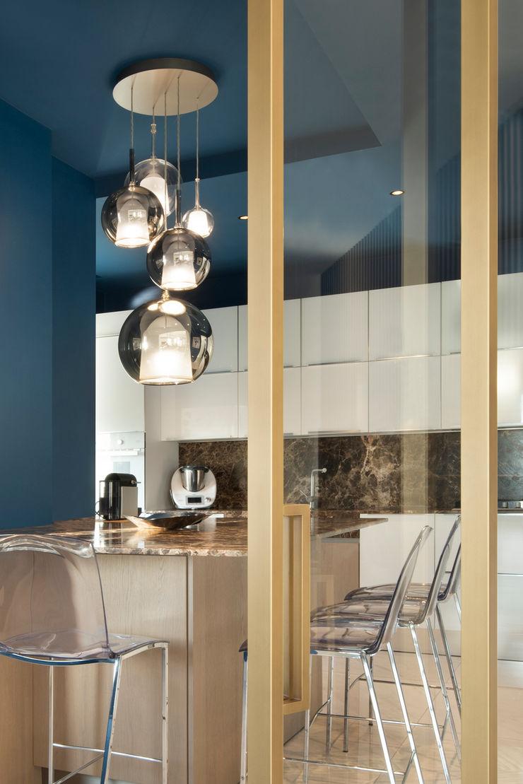 CASA C&C Andrea Orioli Cucina attrezzata Alluminio / Zinco Ambra/Oro