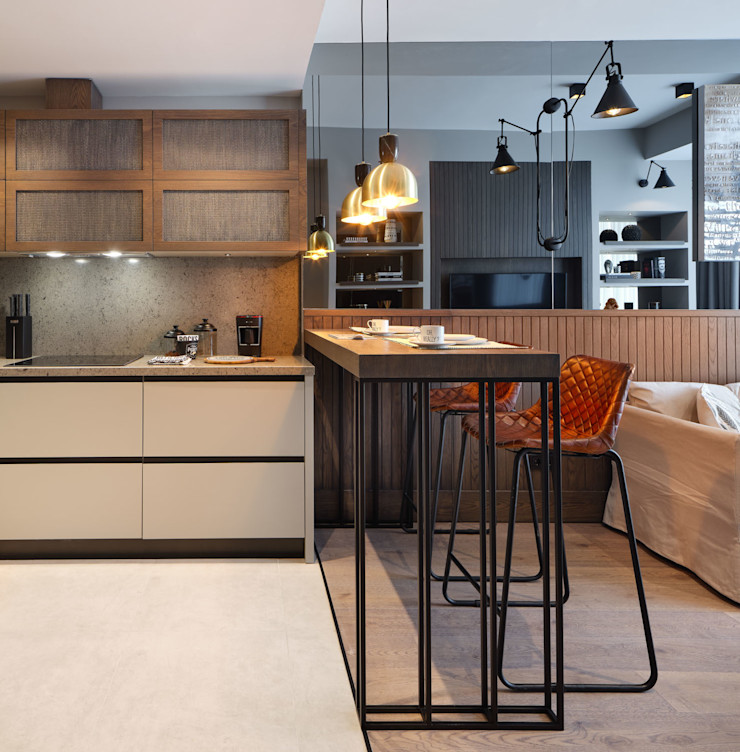 Mandarins Esra Kazmirci Mimarlik KitchenAccessories & textiles Wood Grey
